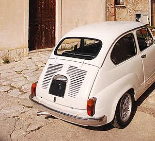 Noleggio Epoca Fiat 500 Hotel
