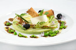 Asparagus and black Truffle