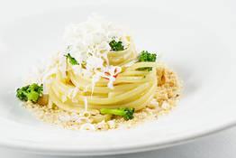 Linguine with Broccoli Cacio Ricotta cheese