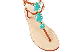 Turquoise Jewel Capri sandals - Da Costanzo