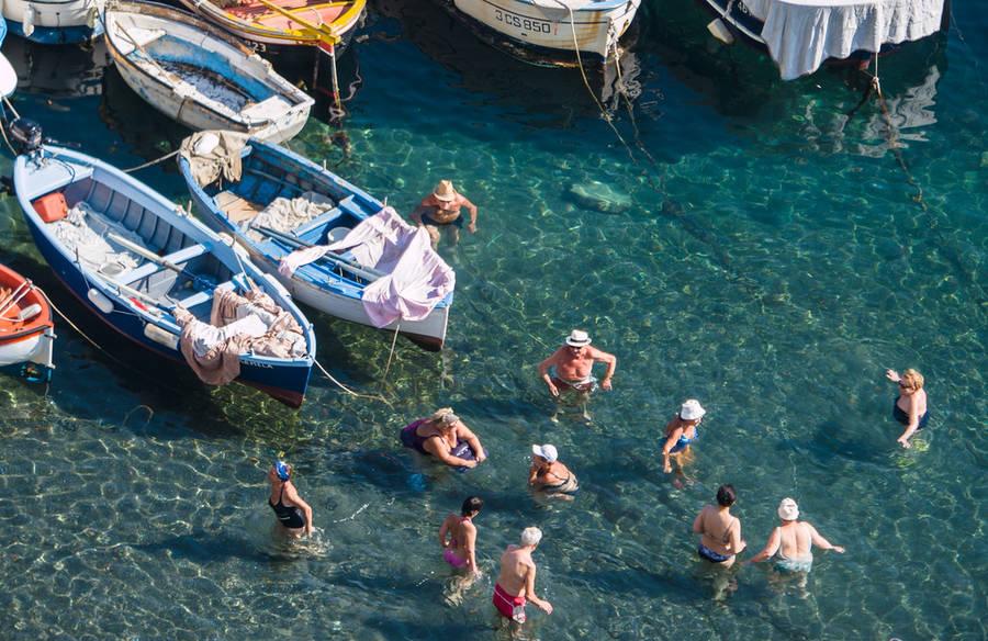 As praias de Sorrento