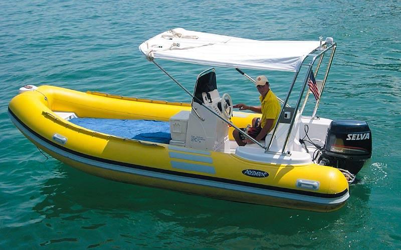 Alugar um bote de borracha em Capri