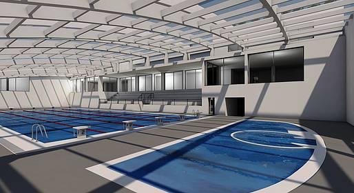 Citt di capri piscina coperta e campo di calcio in for Piani di piscina coperta