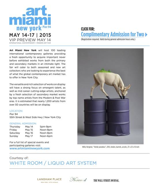 Liquid art system at Art Miami New York 2015