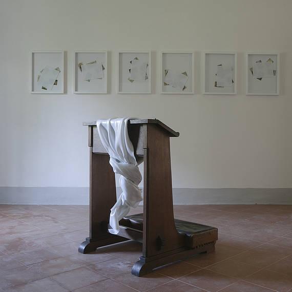 Untitled with kneeling-stool, 2015