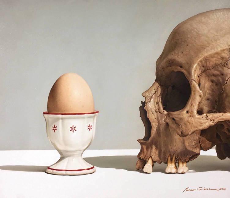Teschio e uovo
