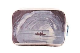 Blue grotto canvas beauty case