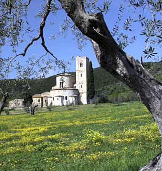 Locanda dell'Amorosa - Itinerario: L'Amorosa - Montalcino - Abbazia di Sant'Antimo