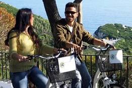 Andar de bicicleta em Capri