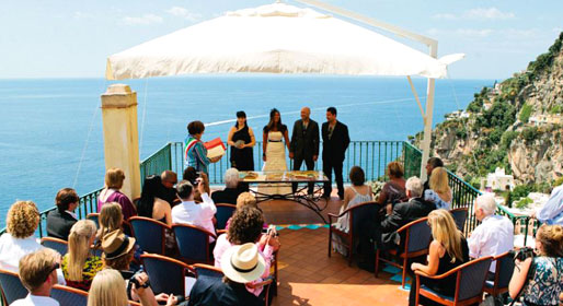 Tying the knot in Positano