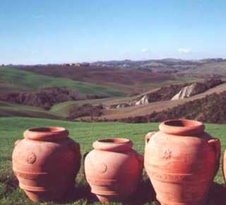 Original Tuscan Terracotta in Petroio Hotel