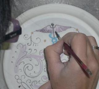 The tipical hand made ceramic of Deruta  Hotel
