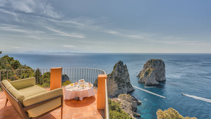 Hotel Punta Tragara Hotel 5 estrelas luxo Capri