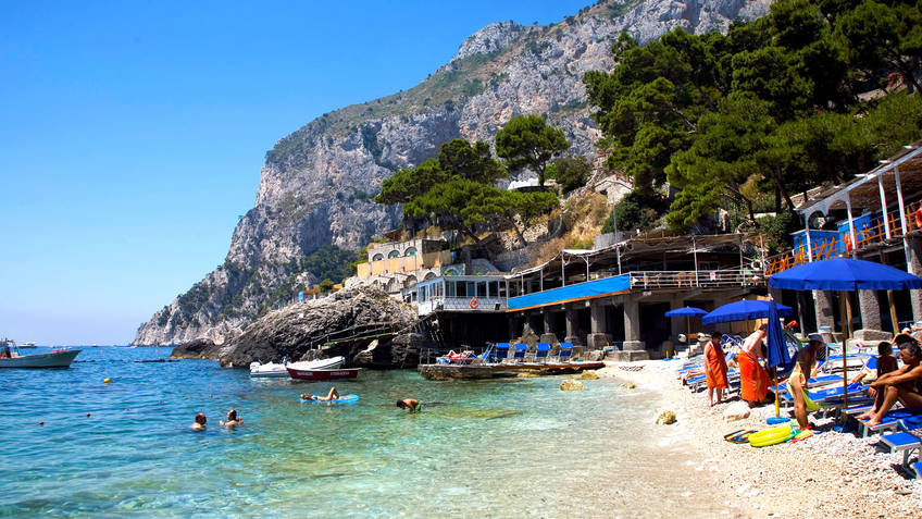 Torre Saracena Bathing Establishments Capri