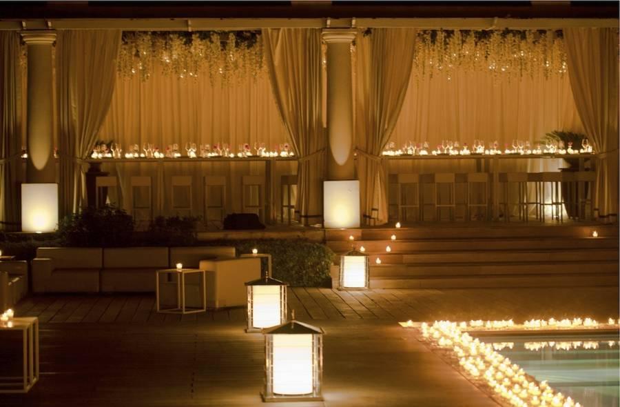 wedding capri luxury events sugokuii poolside weddings decor pool candles event reception decorations jetfeteblog chic celeb