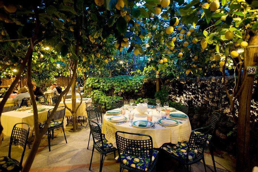 Restaurant Da Paolino On Capri Dining Under The Lemon Trees