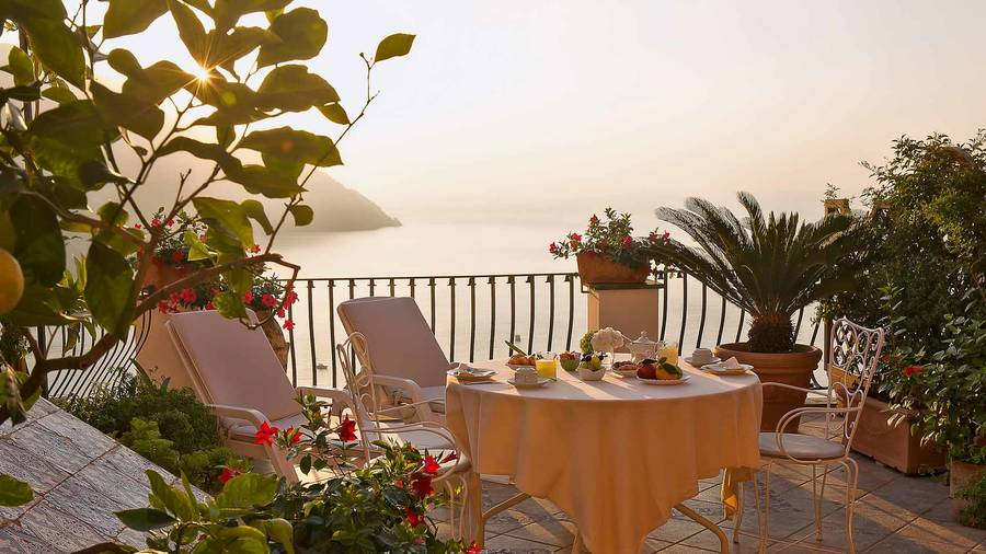 Hotel conca d 39 oro positano prices and availability for Breakfast terrace