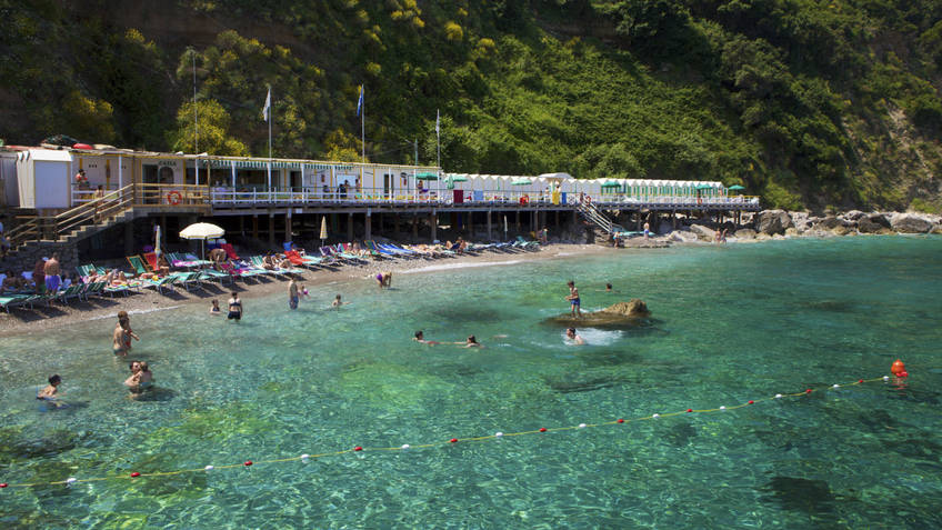 Bagni di Tiberio - The beach of the Empereor