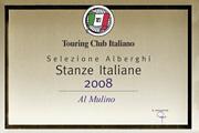 Touring Club Italiano 2008 - Selezione Ristoranti Stanze Italiane 2008