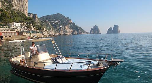 Capri Blue Boats - Half Day around Capri with typical gozzo.