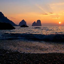 Unique Gozzo Boat Sunset Tour of Capri