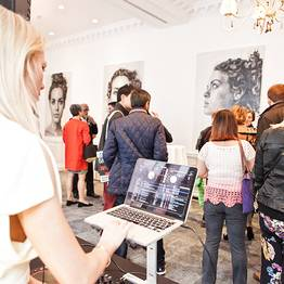 Liquid art system's newest showroom in London
