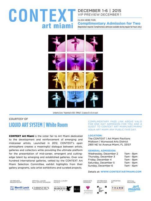 Liquid art system at CONTEXT Art Miami 2015