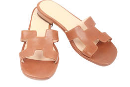 Brown Capri sandals, H model- Da Costanzo Capri