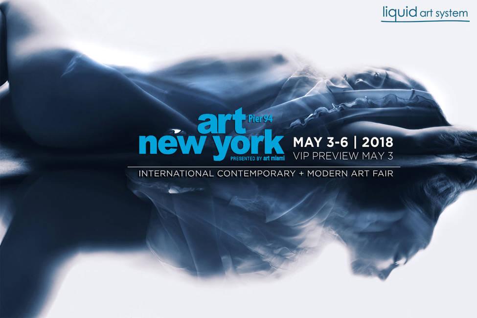 Liquid art system at Art New York 2018