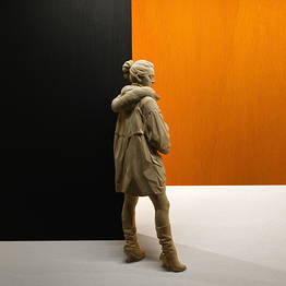 Girl with coat