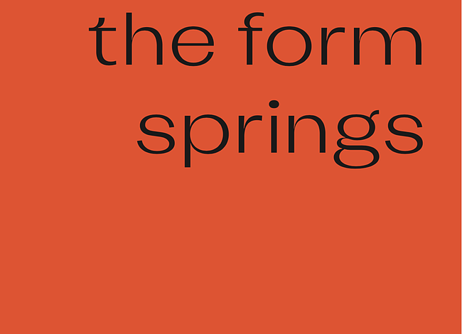 Group Show: the form springs