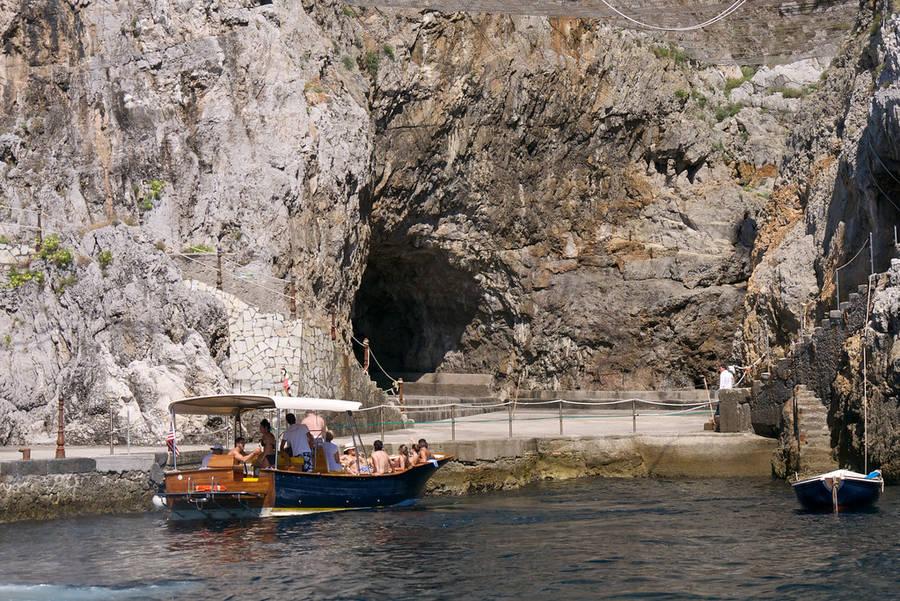 The Emerald Grotto (Grotta dello Smeraldo) in Amalfi
