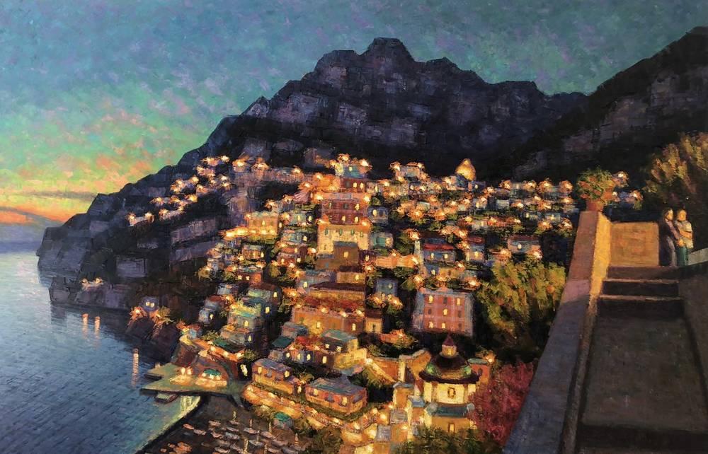 Crepuscolo della sera a Positano