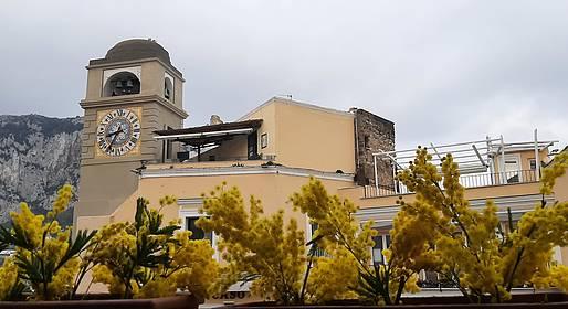La Piazzetta colorata di giallo per la Giornata Internazionale della Donna