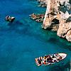 L'isola dal mare e le grotte