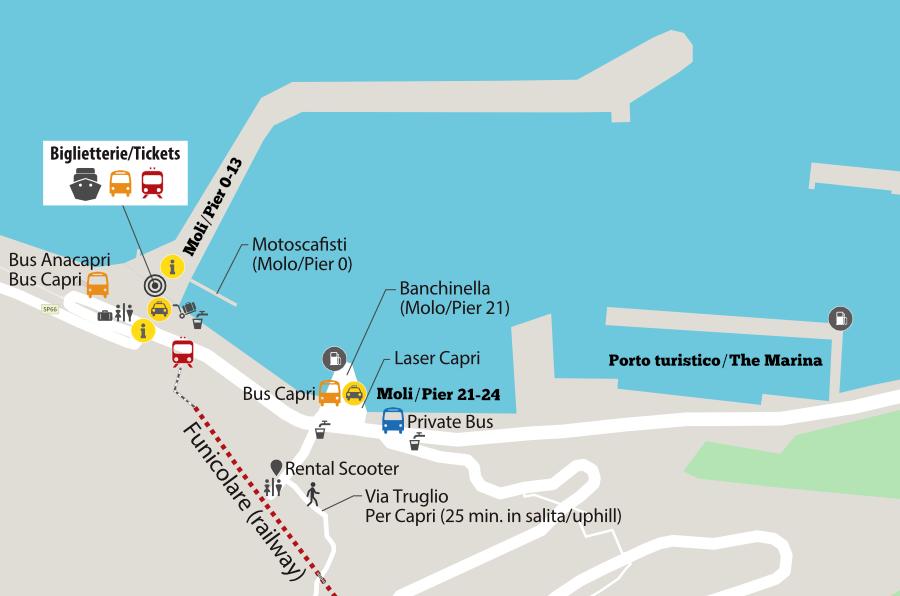 Cartina Costiera Amalfitana E Capri.Cosa Vedere In Un Giorno A Capri Itinerari Isola Di Capri
