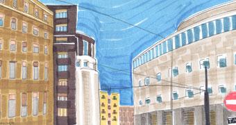 Napoli, passeggiate di carta e matite