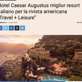 """Il Denaro - Hotel Caesar Augustus miglior resort italiano per la rivista americana """"Travel + Leisure"""""""
