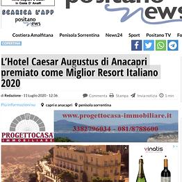 Positano News - L'Hotel Caesar Augustus di Anacapri premiato come Miglior Resort Italiano 2020
