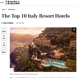 Travel+Leisure - The Top 10 Italy Resort Hotels
