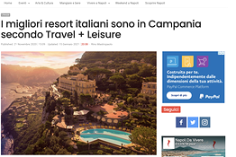 I migliori resort italiani sono in Campania secondo Travel + Leisure