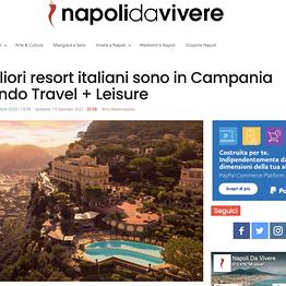 Napoli da Vivere - I migliori resort italiani sono in Campania secondo Travel + Leisure