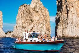 Tour in barca a Capri con pick-up ad Amalfi