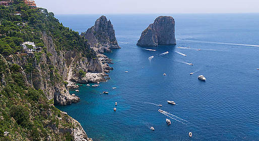Bagni di Tiberio - Capri by Boat excursion