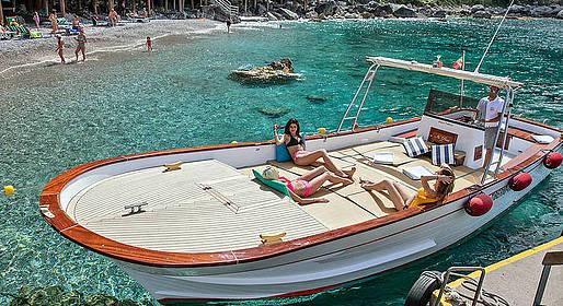 Bagni di Tiberio - Giro dell'isola con escursione a Positano e Amalfi
