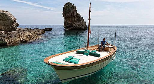Bagni di Tiberio - Boat Tour of Capri  + Positano and Amalfi