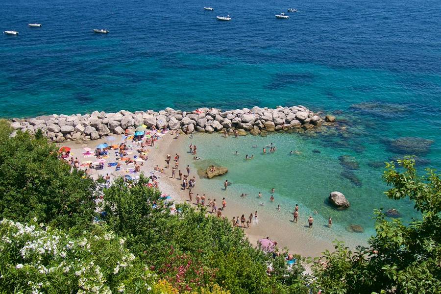 Nature Beaches On Capri Island Of Capri