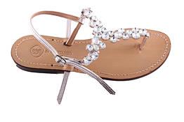 Sandali con gioiello celeste - Da Costanzo