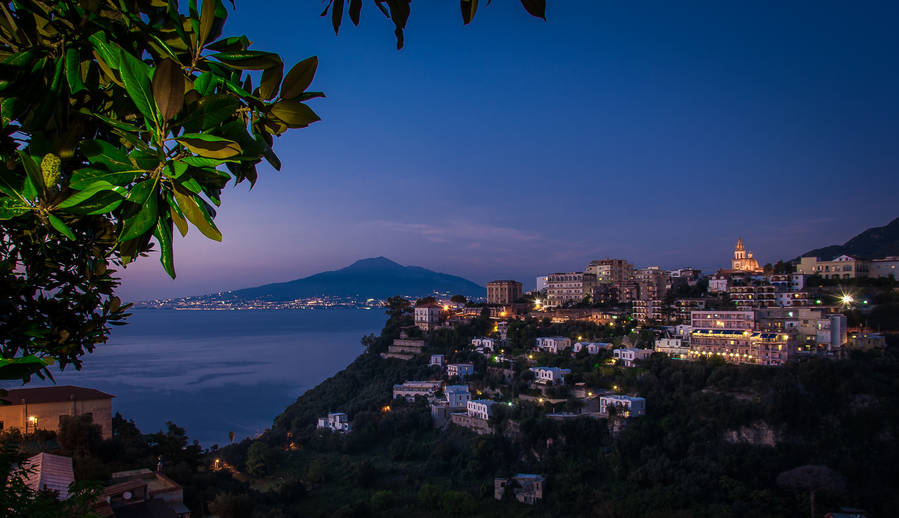 Image result for night time views of sorrento