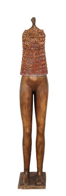 Guerriera in bronzo e ceramica